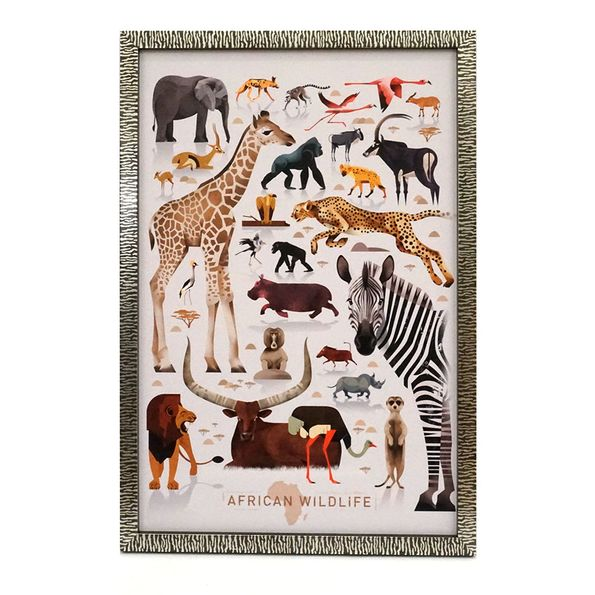 gerahmtes Poster Wildtiere